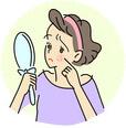 生理前・月経前の肌荒れ